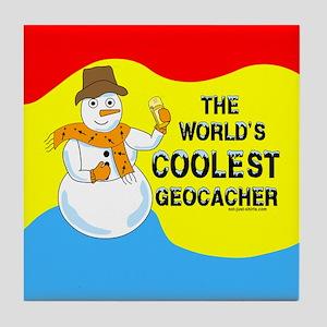 World's Coolest Geocacher Tile Coaster
