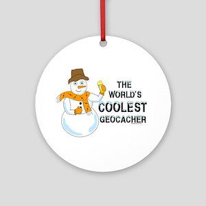 World's Coolest Geocacher Ornament (Round)