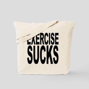 Exercise Sucks Tote Bag