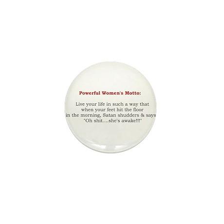 Powerful Women's Motto Mini Button