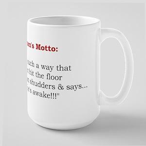 Powerful Women's Motto Large Mug