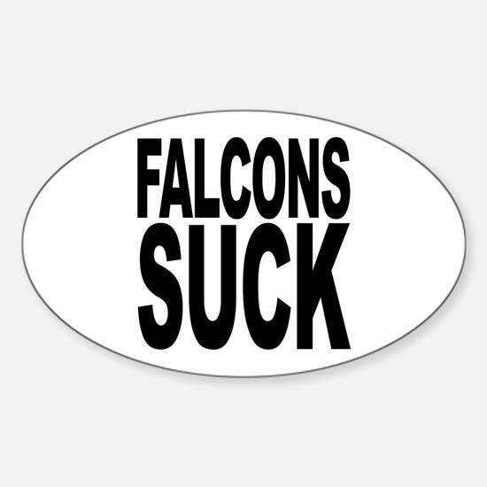 Falcons Suck Oval Decal