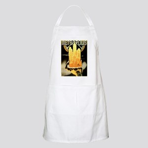 Worker Supporting City BBQ Apron