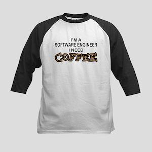 Software Engineer Need Coffee Kids Baseball Jersey