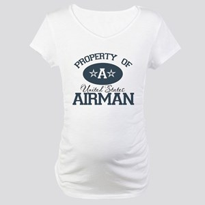 Property of a United States A Maternity T-Shirt