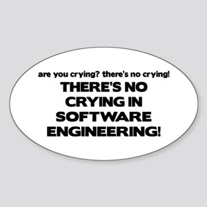 There's No Crying in Software Engineering Sticker