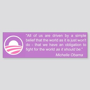 Michelle Obama Bumper Sticker
