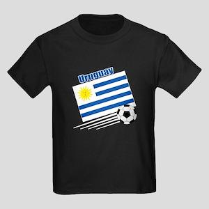 Uruguay Soccer Team Kids Dark T-Shirt