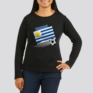 Uruguay Soccer Team Women's Long Sleeve Dark T-Shi