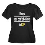 ESP Women's Plus Size Scoop Neck Dark T-Shirt