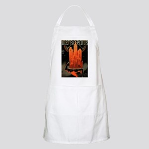 Worker Supporting City, Red BBQ Apron