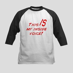Inside Voice Kids Baseball Jersey