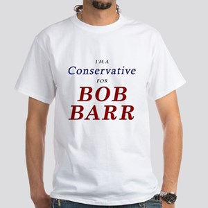 Conservative for Barr White T-Shirt