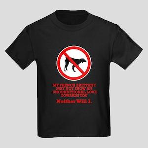 French Brittany Kids Dark T-Shirt