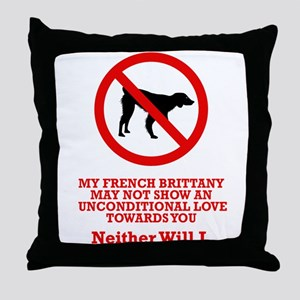 French Brittany Throw Pillow