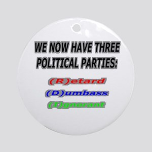 Our three political parties Ornament (Round)