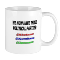 Our three political parties Mug