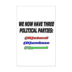 Our three political parties Posters