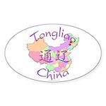 Tongliao China Oval Sticker (10 pk)