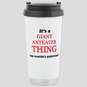 It's a Giant Anteat Stainless Steel Travel Mug