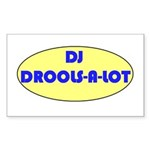 DJ DROOLS-A-LOT Rectangle Sticker 50 pk)