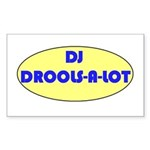DJ DROOLS-A-LOT Rectangle Sticker
