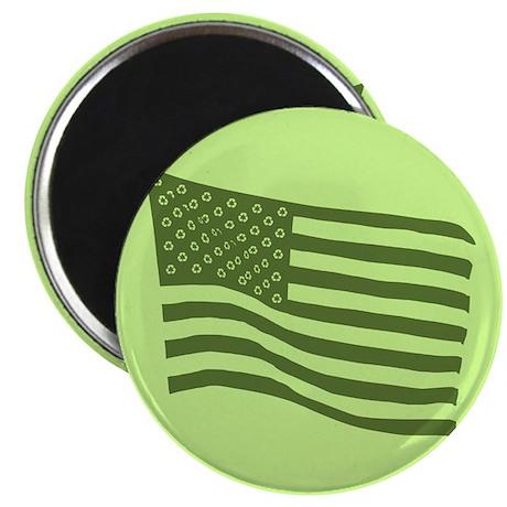 """Green Flag 2.25"""" Magnet (10 pack)"""