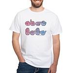 PinkBlue SIGN BABY SQ White T-Shirt