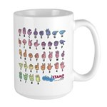 PinkBlue SIGN BABY SQ Large Mug