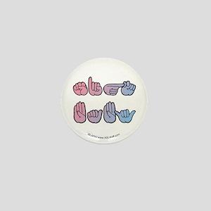 PinkBlue SIGN BABY SQ Mini Button