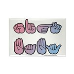 PinkBlue SIGN BABY SQ Rectangle Magnet