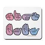PinkBlue SIGN BABY SQ Mousepad
