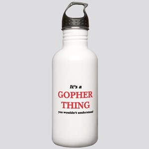 It's a Gopher thin Stainless Water Bottle 1.0L