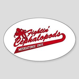 Miskatonic Fightin' Cephalopods Oval Sticker