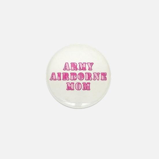 Army Airborne Mom Pink Camo Mini Button