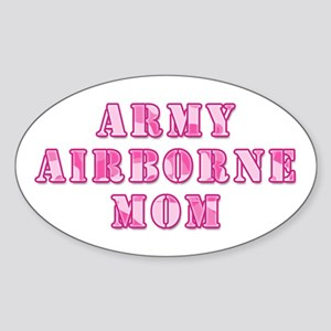 Army Airborne Mom Pink Camo Oval Sticker