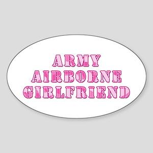 Airborne Girlfriend Oval Sticker