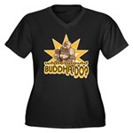 Buddha Women's Plus Size V-Neck Dark T-Shirt