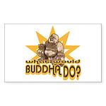 Buddha Rectangle Sticker 10 pk)