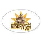 Buddha Oval Sticker (10 pk)