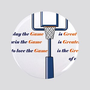 "Basketball Love the Game 3.5"" Button"