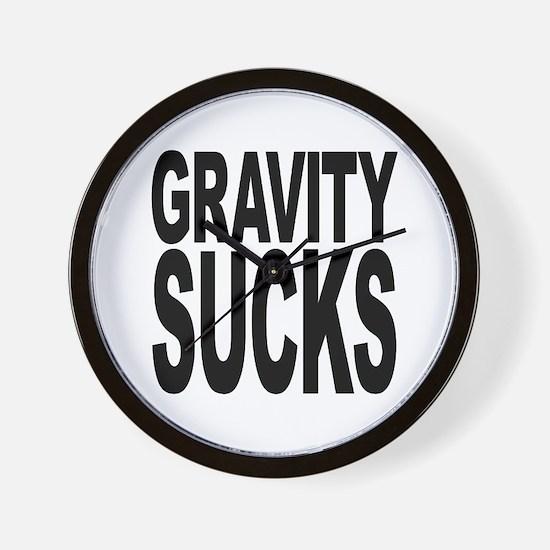 Gravity Sucks Wall Clock