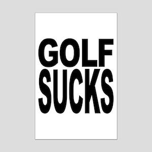 Golf Sucks Mini Poster Print