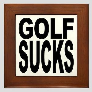 Golf Sucks Framed Tile