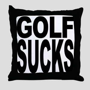 Golf Sucks Throw Pillow