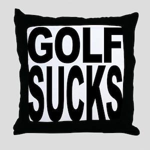 Golf Sucks Throw Pillow