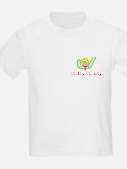 Girl Daddy's Caddy Kids Golf T-Shirt
