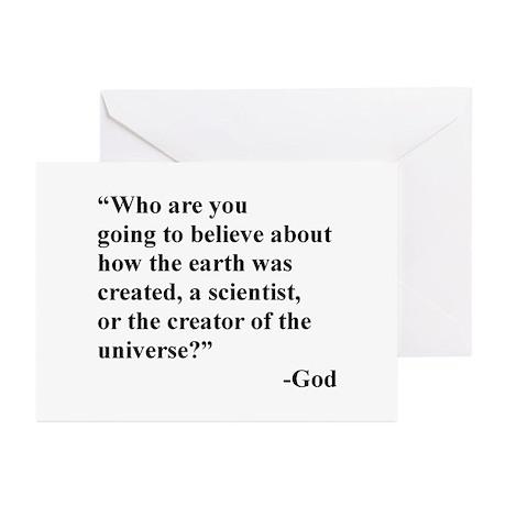 Scientist Vs God Greeting Cards (Pk of 20)