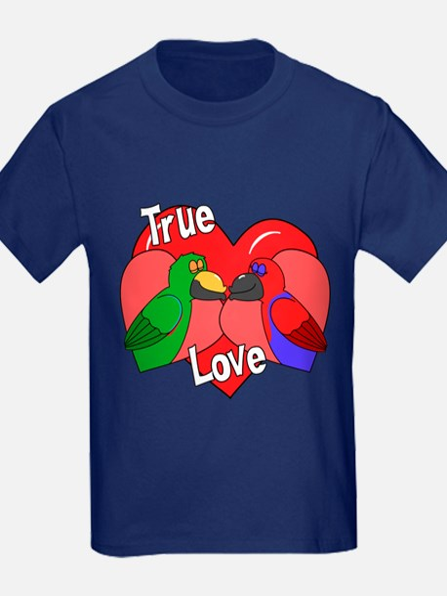 True Love Eclectus Kids Dark TShirt