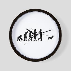 Weimaraner Evolution Wall Clock